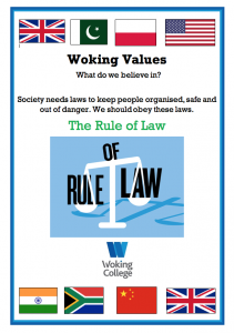 Woking College Values The Rule of Law